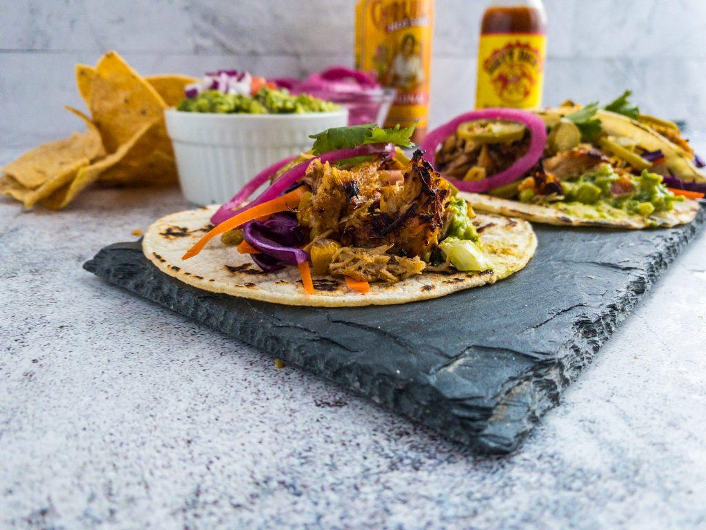 image of pork carnitas tacos